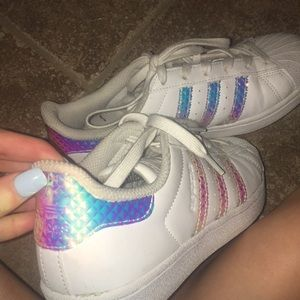 Adidas holographic super star